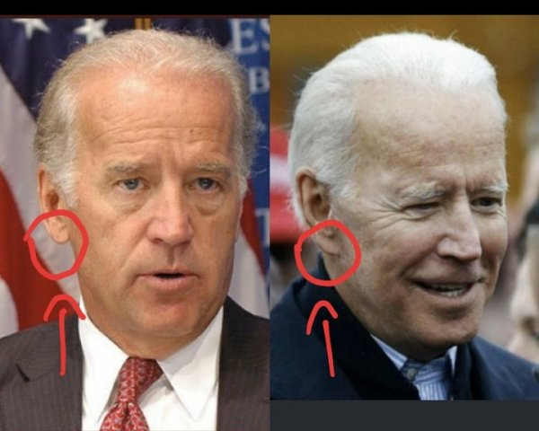 clones and look alikes and actors playing biden.