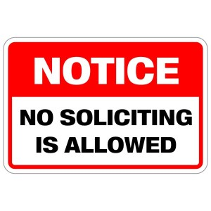 """The document gives various instructions and tips on how to handle individuals who answer their door including """"Inform, don't convince,"""" """"Knock and then back up,"""" and """"Ignore no soliciting signs."""""""