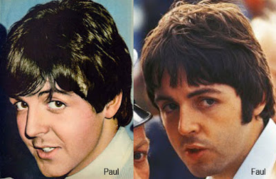 clones and look alikes. is Paul McCartney dead? Apparently, the real Paul was killed in a car accident in 1966 and replaced by a lookalike named William Shears Campbell (Billy Shears.)