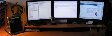 Desk and screens