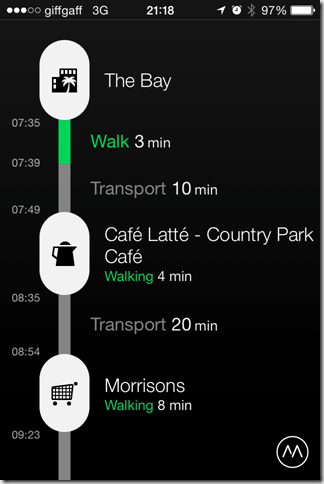 iPhone Moves App