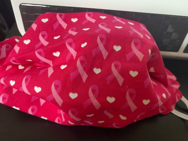Pink Ribbon Breast Cancer Awareness Face Mask