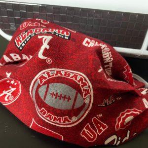 Alabama Face Mask Roll Tide BAMA Football Crimson Tide Big Al University of Alabama Football