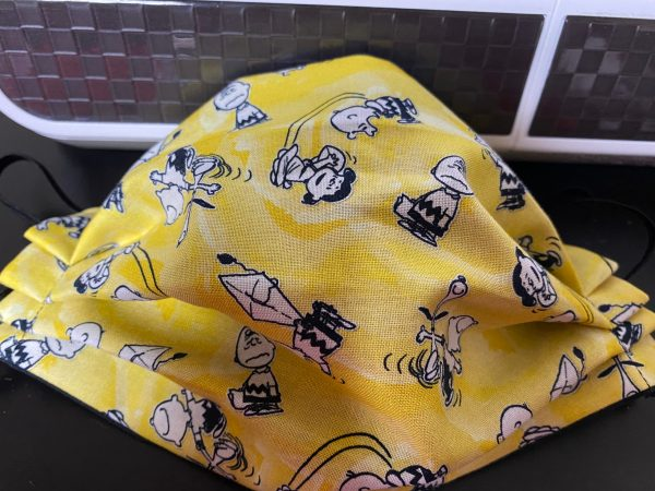 Yellow Peanuts Snoopy Face Mask