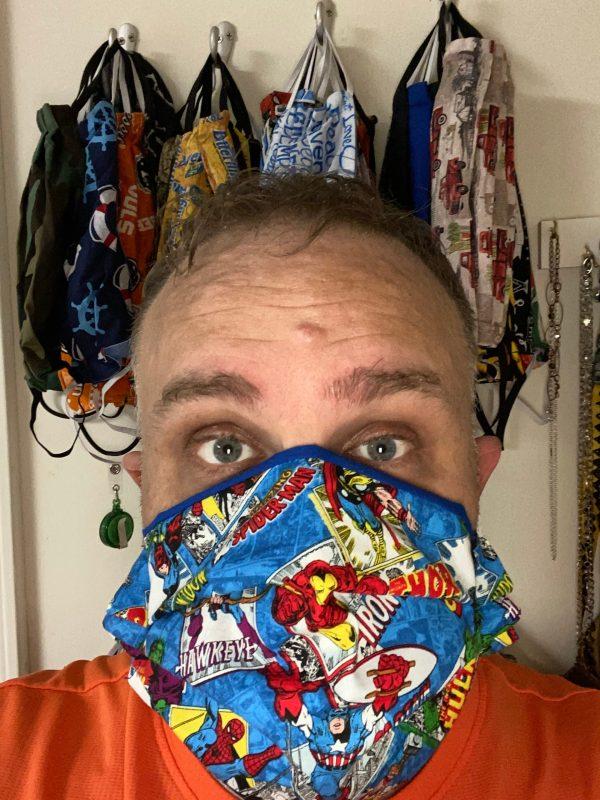 Marvel Comic Face Mask #MarvelComic