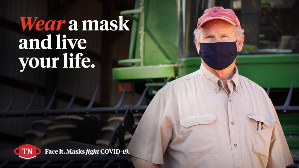 """State of Tennessee Releases New COVID-19 PSA """"Never Miss a Moment"""" """"Face It, Masks Fight COVID-19"""" campaign. The new ad promotes responsible decision-making by Tennesseans as the state continues to fight the spread of COVID-19 and is airing across the state on broadcast, cable, radio, outdoor and digital media."""