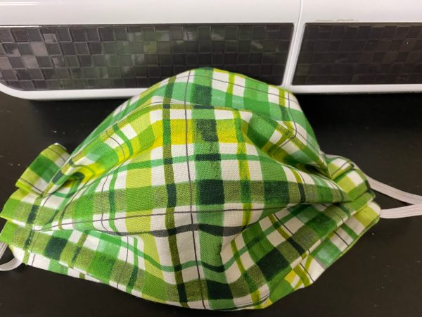 Green Plaid Face Mask - A Nice plaid green face mask. #GreenPlaid #FaceMask
