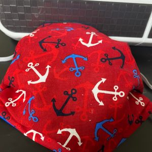 Anchor Face Mask a great nautical face mask with anchors on it. #Anchor #Nautical