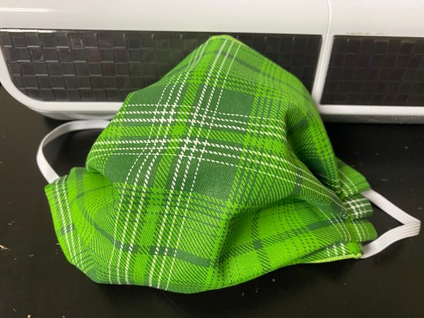 Green Tartan Plaid Face Mask - Great face mask to wear for St. Patrick's Day or anytime. Maybe you like wearing green or plan to wear green. This one is for you!