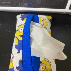 Minions Pocket Tissue Holder - A handmade pocket tissue holder with the Minions on it. #Minions