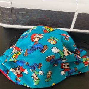 Super Mario Face Mask - A Face mask for those Nintendo Super Mario Fans with Mario and Luigi. #SuperMario