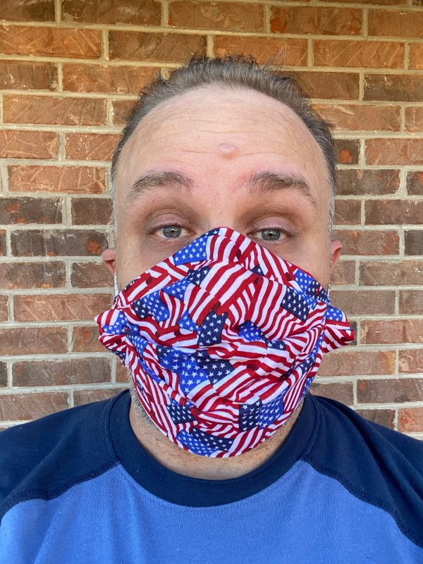 American Flag Face Mask - A face mask with the American Flag on it. #AmericanFlag