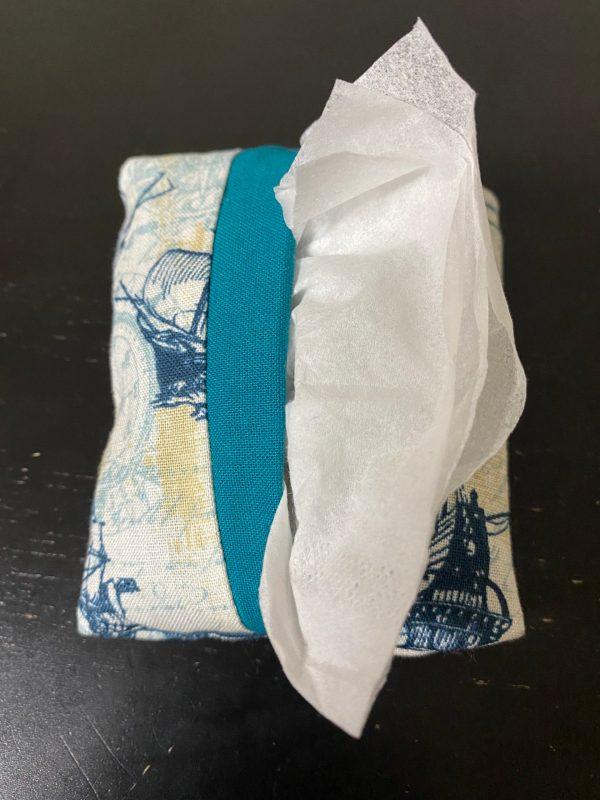 Naval Ship Pocket Tissue Holder - This pocket tissue holder has naval ships on it to hold your tissues.