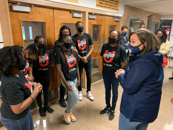 Lt. Gov. Coleman Visits Central High School to Celebrate Vaccine Clinic Led By Students - Lt. Gov. Jacqueline Coleman visited Central High School today to celebrate the opening of a new vaccine clinic in West Louisville that has actively involved students. #Kentucky #COVID19Vaccine