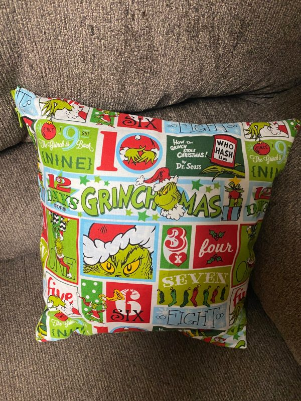 Grinch Decorative Pillow