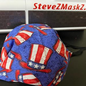 Patriotic Uncle Same Hat Face Mask - This face mask is red, white and blue and great to show off your patriotism. #UncleSame #Patriotic