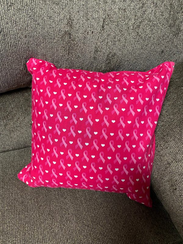 Breast Cancer Awareness Decorative Pillow - This pillow features the pink ribbon for Breast Cancer Awareness. #BreastCancer #PinkRibbon #DecorativePillow