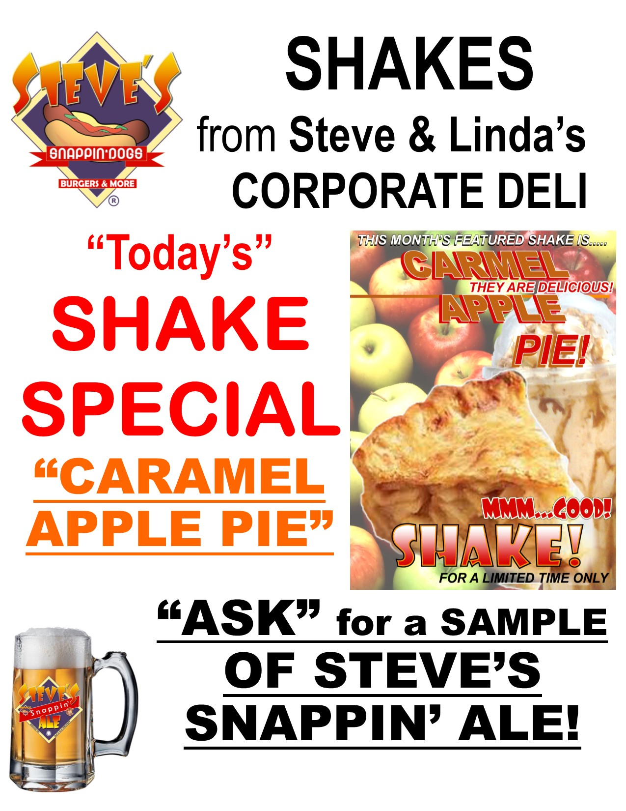 This Month's Shake: Caramel Apple Pie
