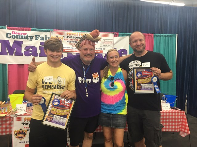 Denver County Fair Hot Dog Eating Contest July 20, 2019 Winners
