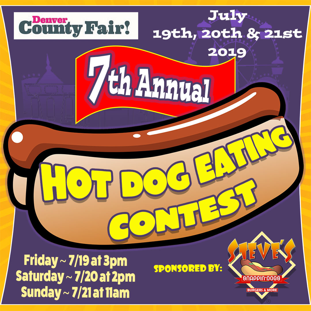 The 7th Annual Hot Dog Eating Competition to be Contested at the Denver County Fair