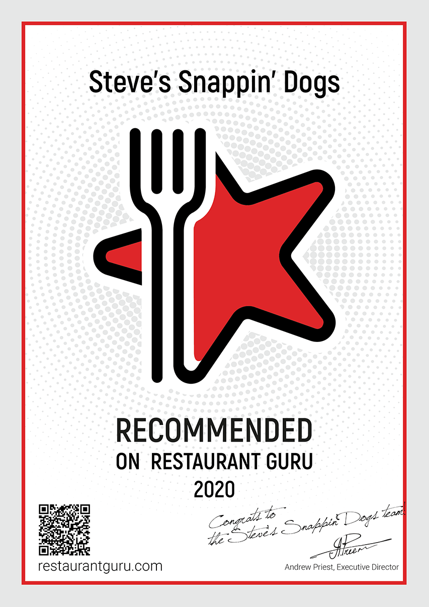 Steve's Snappin' Dogs Receives Recommendation from Restaurant Guru