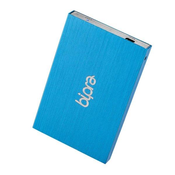 bipra external hard drive blue