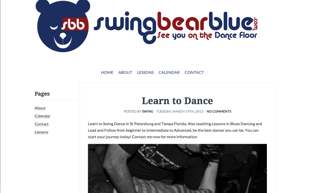 Swing bear blue