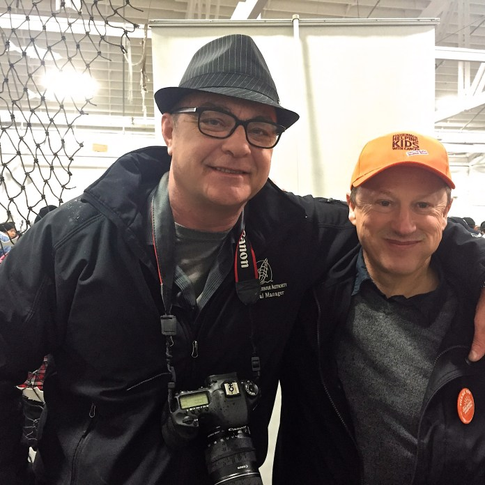 SHA General Manager, Bob Baziuk (left) and event organizer, Phil Eidsvik at the 2015 Fishermen Helping Kids With Cancer Herring Sale