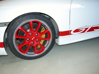 GT3 Wheels with matvhing paint and polished lips