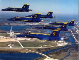 Lydia Flys with the Blue Angels