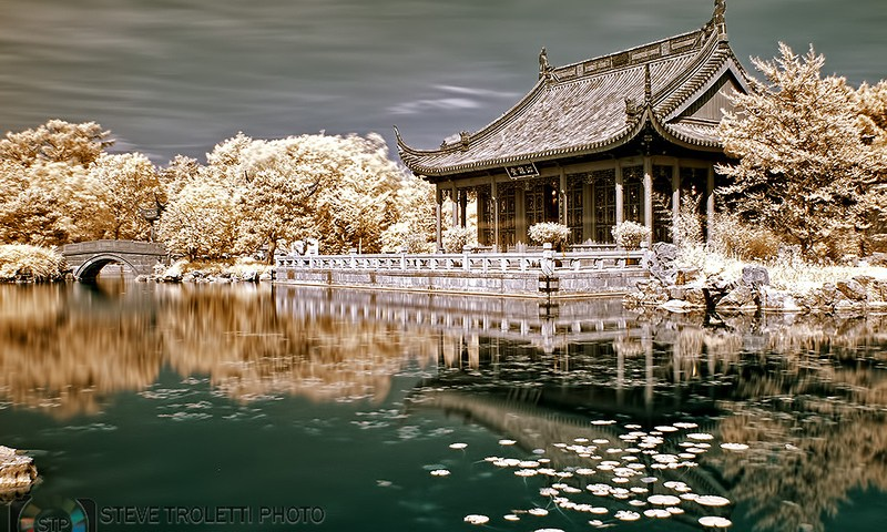 Chineese Garden Main Pavilion – Infrared / Jardin de Chine – Infrarouge (2)