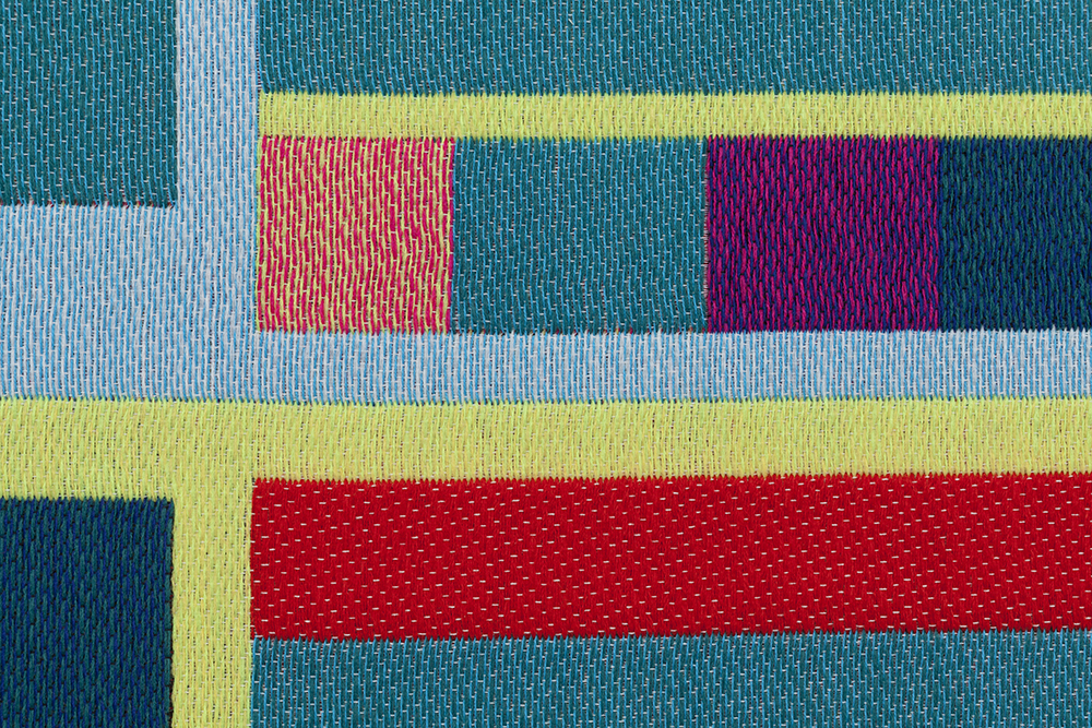 Detail of Twitter in Jacquard weaving