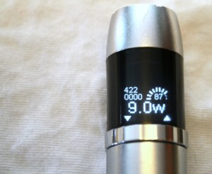 joyetech evic review display screen image