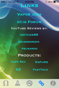 vapor plus review links page