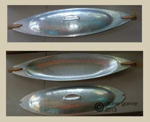 adolph tischler hammered bowl w cover