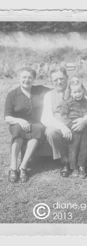 tischler grandparents in back yard