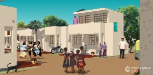 steve wallet architect india affordable housing 3D model up street 10-23-2013