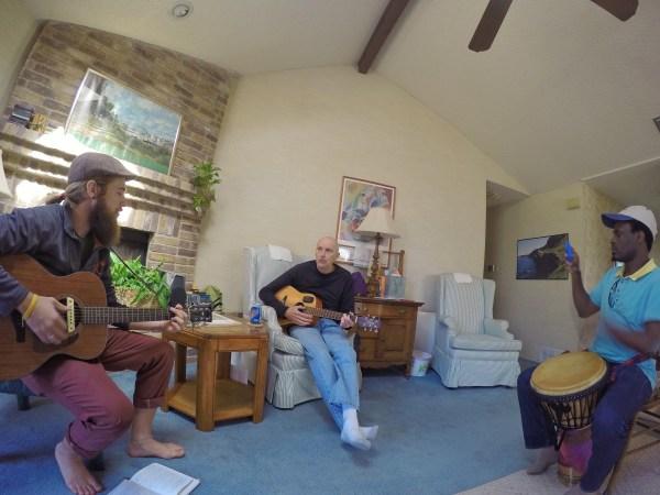 GoPro guitar djembe jam san antonio