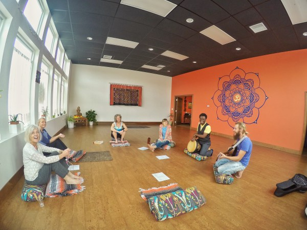 Music and chanting at Sunflower Yoga Studio in Hutchinson