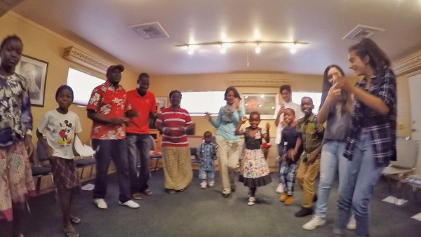 Dancing at the Baha'i Center in Tucson Arizona