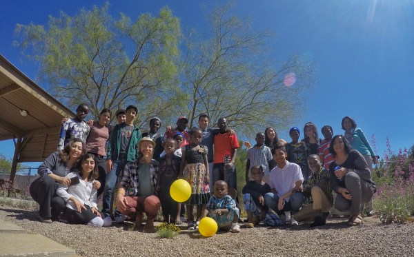 Photo of the group at the Baha'i Center in Tucson Arizona