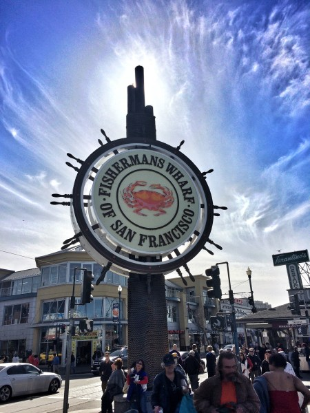 Photo of the sign at the Fisherman's Wharf of San Francisco California