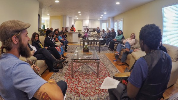 photo of baha'i musicians performing a devotional in salt lake city, utah