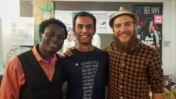 photo of three guys from cameroon, india, and canada in utah