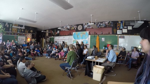 a photo of Musicians at a high school in Grand Junction, Colorado