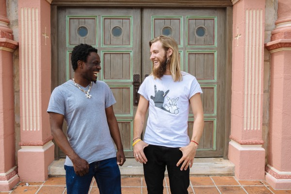 Stevie Vagabond and Gustaff Besungu black and white men in Santa Barbara