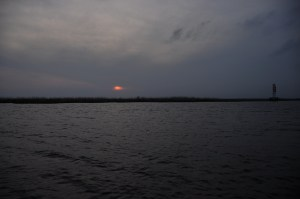 photo of the sunset over the rigolets