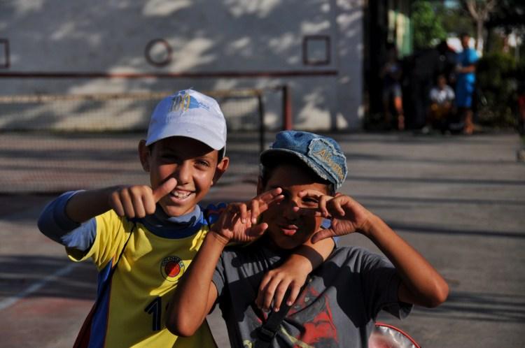 Photo of two cuban boys in Nueva Gerona, Cuba by Stevie Vagabond