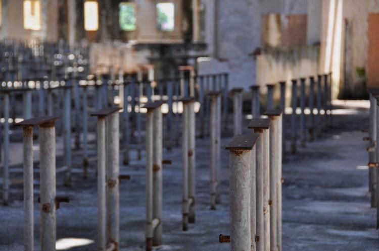 Photo inside the cafeteria block at el Presidio Modelo in Nueva Gerona by Stevie Vagabond