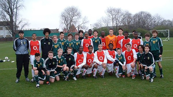 green and gold academy with arsenal